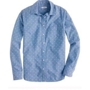 Polka dot chambray boy shirt